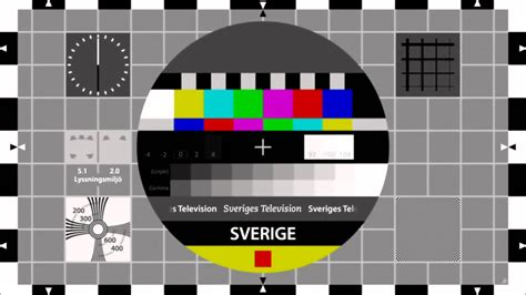 test pattern meaning sveriges television high definition test pattern youtube