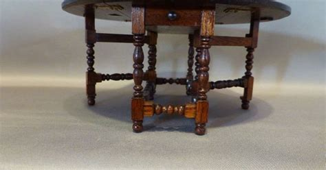 gerald crawford gate leg table artist signed dollhouse