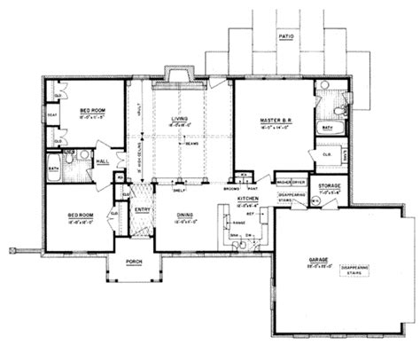 1400 square foot house plans southern style house plan 3 beds 2 baths 1400 sq ft plan
