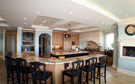 large kitchen island with seating and storage home designs project