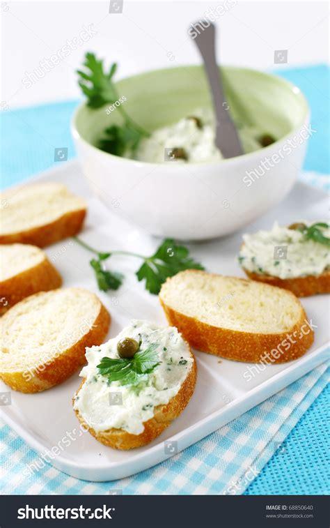 canape spread delicious modern tuna fish spread snack canape stock photo