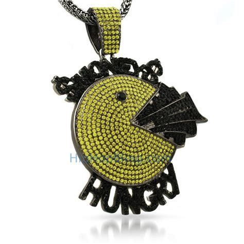 money hungry black yellow custom hip hop pendant