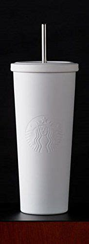 Starbucks Tumbler Black Mate Cold Cup Stainless Steel Logo starbucks matte white stainless steel cold cup with stainless steel straw 24 oz http www