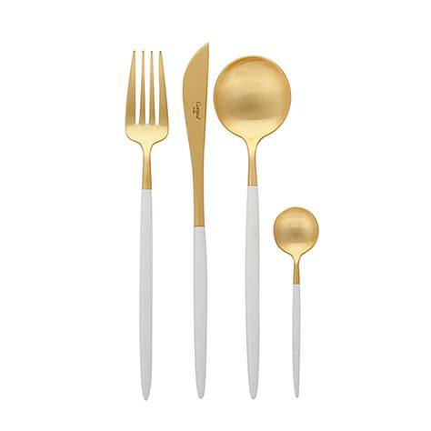 Kids Kitchen Knives cutipol goa gold white cutlery amp chest abode new york