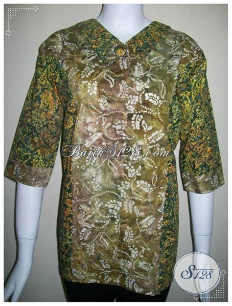 Ld Cap Smok Baju Batik Baju Batik Kantor blus batik untuk kerja tersedia motif tabrak warna yang