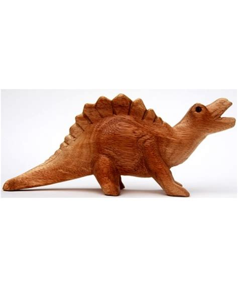 Handmade Dinosaur - dino sounds stegosaurus handmade carved wood
