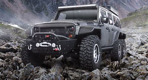 2018 jeep tomahawk chinese firm reveals 6x6 jeep wrangler dubbed the tomahawk