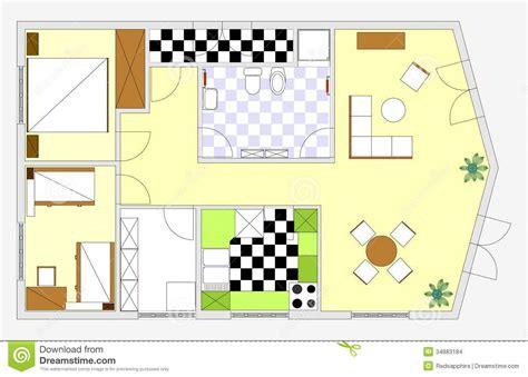Bathroom Color Idea blueprint stock illustration image of house dining