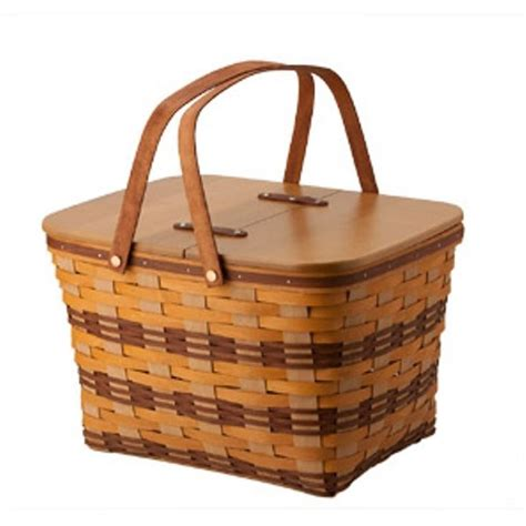 To Market Picnic Basket by Details About Longaberger 2015 Chestnut Park Picnic Basket