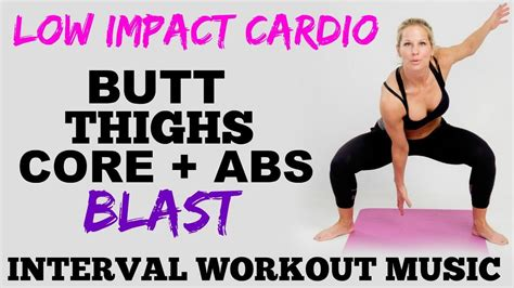 low impact cardio lower thighs and abs workout lower workout