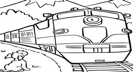 gambar kereta api kartun  diwarnai aneka gambar gambar