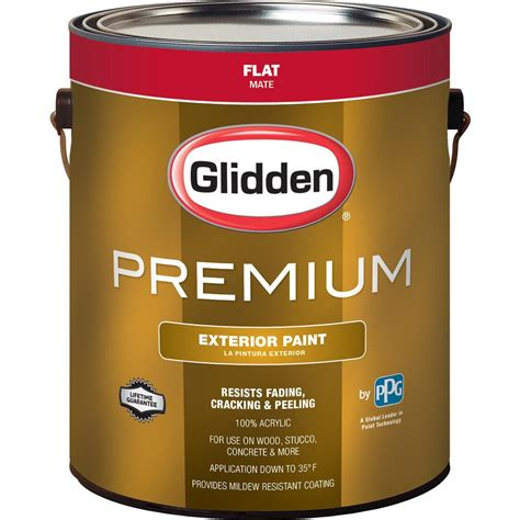 Dm016 Base 1 White glidden premium 1 gal flat base 1 white exterior paint gl6111 01 the home depot