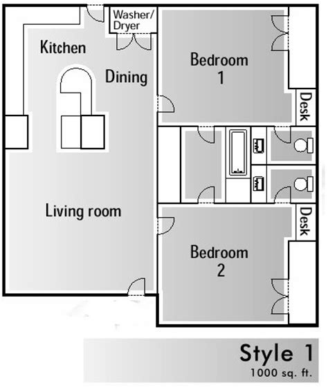 1000 square foot floor plans 1000 square foot house floor plans home design and style