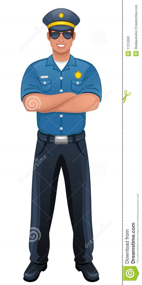 policeman stock vector illustration of authority