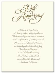 Invitation Letter 25th Wedding Anniversary 50th Wedding Anniversary Invitations In Mini Bridal