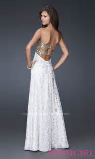 White amp gold evening gowns la femme long prom dresses promgirl