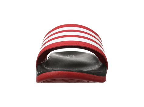 Adidas Adillete Cloudfoam 3 adidas adilette cloudfoam ultra stripes scarlet white black zappos free shipping both ways