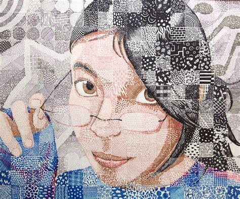 pattern portrait artist self portrait in patterns by elui on deviantart