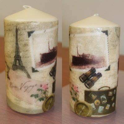tutorial decoupage en velas espelma decorada amb tovall 242 vela decorada con