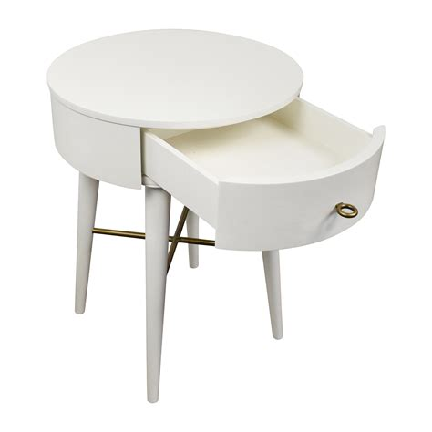 west elm round 61 off west elm west elm penelope white round