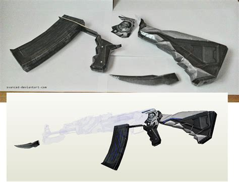 Papercraft Ak 47 - wip crossfire ak47 iron beast papercraft by svanced on
