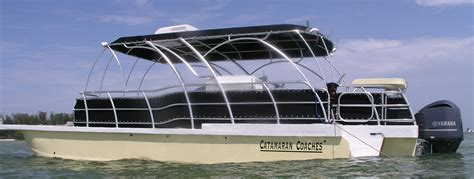 trimaran pontoon catamaran coaches not just a boat it s a lifestyle