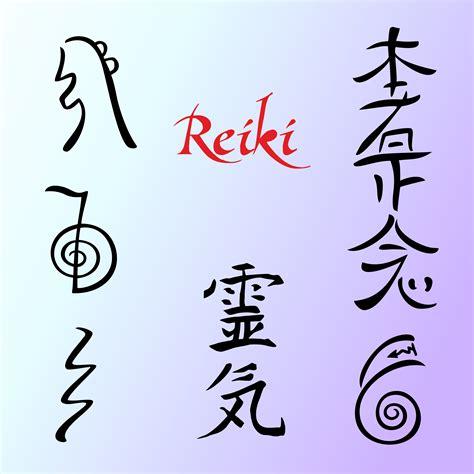 reiki energy symbols alternative medicine vector