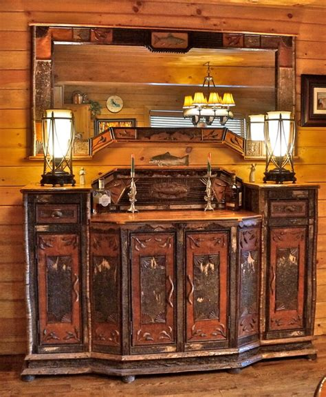 rustic dining room buffet adirondack rustic sideboard rustic dining room other metro by l post rustics