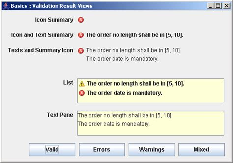 java swing text field validation input verifier exle data validation 171 swing