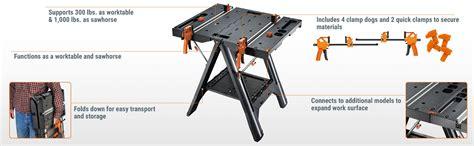 worx pegasus work table worx wx051 pegasus folding work table with quick cls