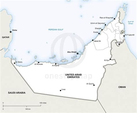 uae political map vector map of united arab emirates political one stop map