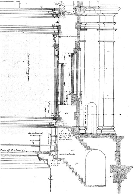 balcony section structure magazine the pennsylvania state capitol