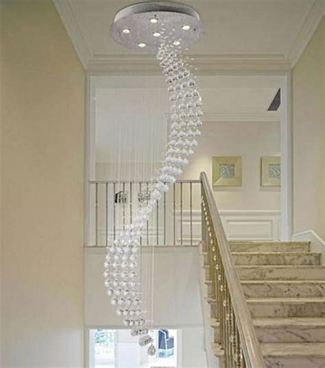 Staircase Chandelier 12 Brilliant Staircase Chandelier For Glamorous House