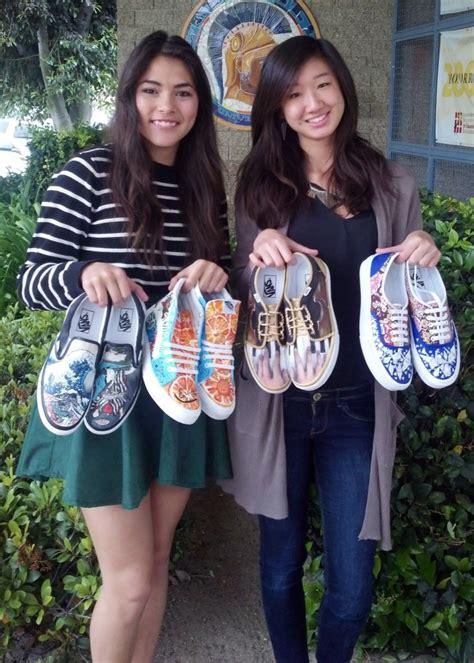 canva iusd uni students make shoes their canvas for the vans custom