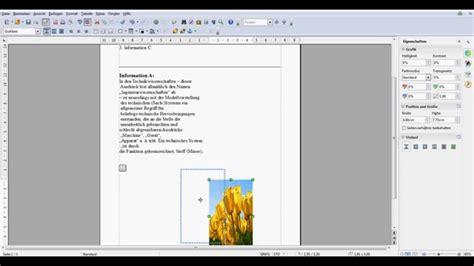Word Lebenslauf Bild Neben Text Openoffice Bild Neben Text Anordnen
