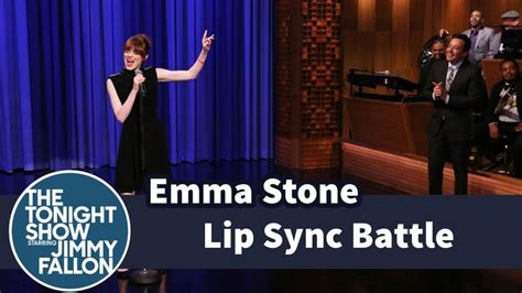 emma stone lip sync songs emma stone and jimmy fallon face off in an epic lip sync
