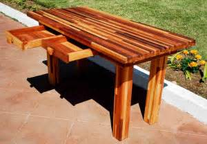 Wood Patio Table Furniture » Home Design 2017