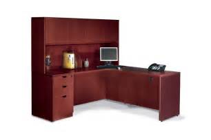 Office Desk L Shaped With Hutch Executive Laminate L Shape Office Desk With Hutch Ebay