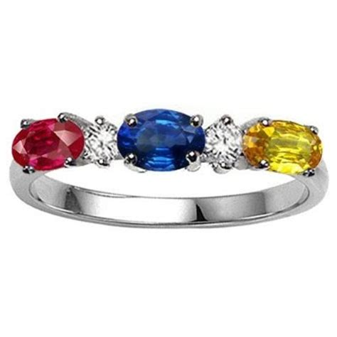 jewelry gorgeous rings: genuine 3 stone and diamond