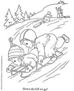 Winter Activities Coloring Pages free printable winter activity pages new calendar