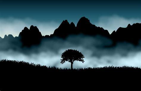 beautiful scenery silhouette   eps