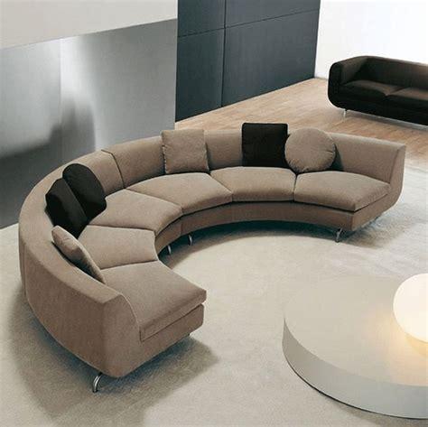 modern half circle small sectional sofa half curved modern brown