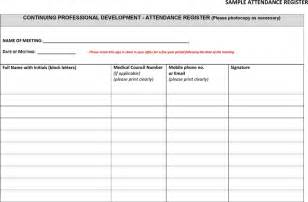 template for attendance register 4 meeting register template a cover letters