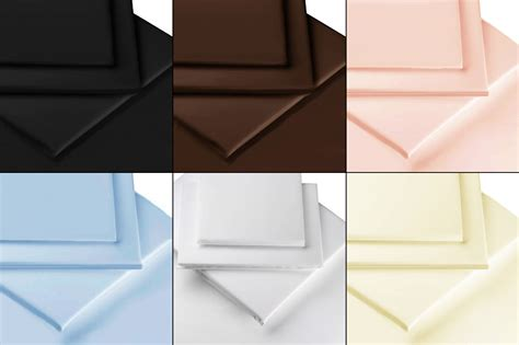 flat bed sheets 100 egyptian cotton percale flat bed sheets luxury bedding all sizes colours ebay