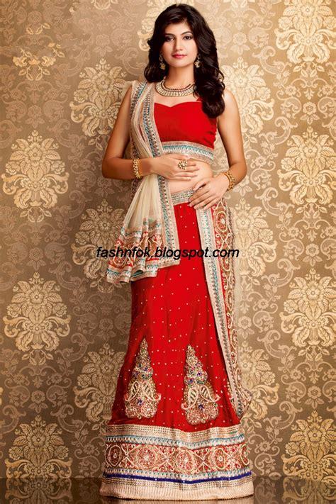 indian bridal wedding lehenga choli style sarees designs of sarees fashion fok indian beautiful wedding bridal wear new