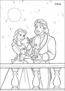 fun child beauty beast coloring pages