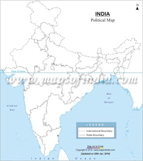 Civil Service Guide Outline Map Of India