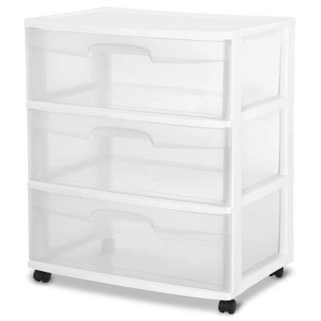 sterilite white 6 drawer cart sterilite 3 drawer wide cart white walmart