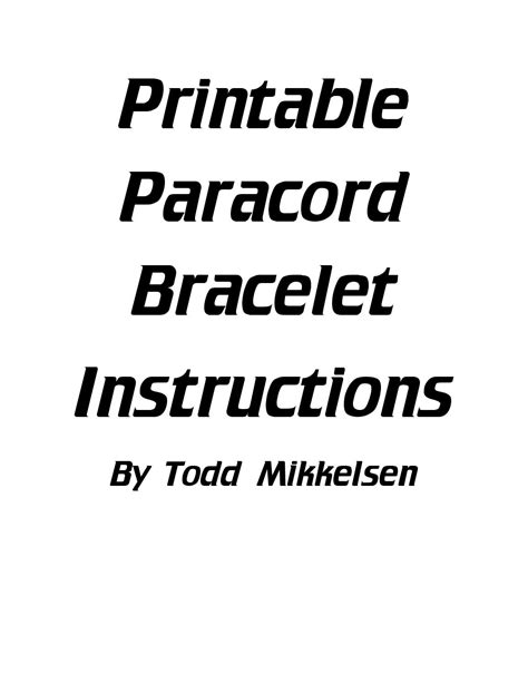 printable paracord instructions free printable paracord instructions by todd mikkelsen issuu