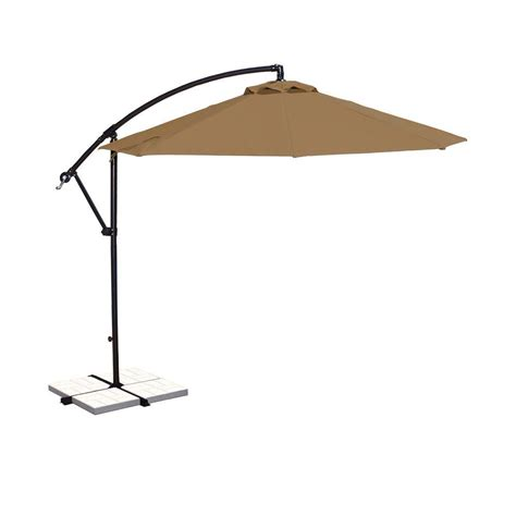 Cantilever Patio Umbrella Island Umbrella Santiago 10 Ft Octagonal Cantilever Patio Umbrella In Sunbrella Acrylic